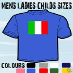 ITALY ITALIAN FLAG EMBLEM T-SHIRT ALL SIZES & COLOURS